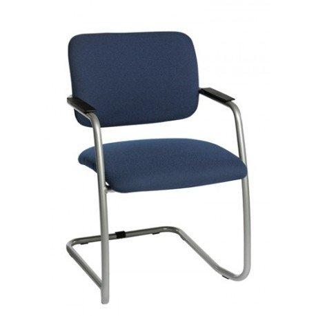 Chaise de réunion en tissu Milo