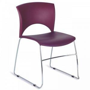 Chaise empilable colorée LOLA