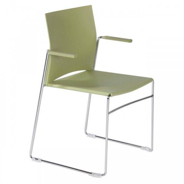 Chaise d'accueil colorée empilable LINO-F