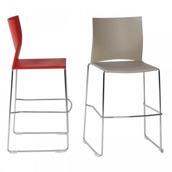 Chaise d'accueil colorée empilable LINO-H