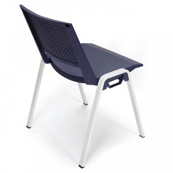 Chaise d'accueil colorée empilable KENI