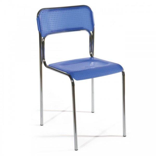 Chaise empilable en acier FIZZ
