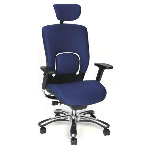 Fauteuil ergonomique bleu
